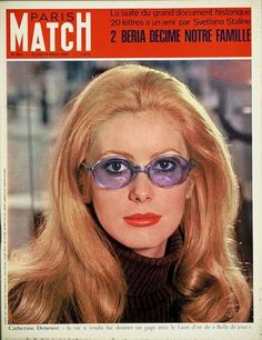 Catherine Deneuve in Paris Match.  September, 1967.