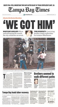 New York Times Newspaper Headlines | How Today's Front Pages Showed Boston's Manhunt