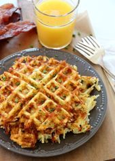 Cheesy Waffled Hash Browns is the delicious breakfast side dish you need make. Every bite of perfectly crisp and cheesy hash browns. Make for a crowd and top with eggs and bacon for the perfect brunch. Breakfast Dishes, Breakfast Recipes, Breakfast Casserole, Breakfast Ideas, Mothers Day Breakfast, Mexican Breakfast, Pancake Recipes, Breakfast Sandwiches, Breakfast Pizza