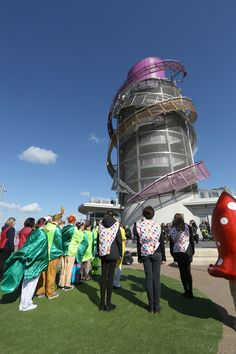 Performers gather for the Redcar Beacon's opening weekend. Opening Weekend, Creative Industries, Fair Grounds, History, Travel, Trips, Traveling, Historia, History Books