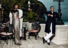 """The cast of """"Empire"""" nabs a spread in the 2015 September issue of """"Vogue,"""" alongside model Jourdan Dunn and the Weeknd."""