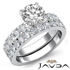 Round Diamond Women's Engagement Bridal Set Ring EGL G SI1 14k White Gold 2 2 Ct | eBay