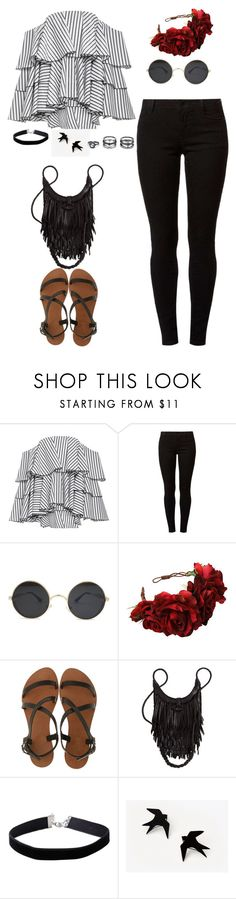 """""""Untitled #103"""" by existential-crisis823 ❤ liked on Polyvore featuring Caroline Constas, Dorothy Perkins, Rock 'N Rose, Joie A La Plage, Miss Selfridge and Lulu*s"""