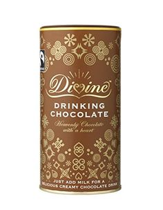 Divine Chocolate Divine Drinking Chocolate Fairtrade Gluten Free Added Sugar Vegan Vegan Hot Chocolate, Divine Chocolate, Chocolate Heaven, Delicious Chocolate, Fair Trade Chocolate, Cool Packaging, Product Packaging, Chocolate Powder, Coffee Bottle