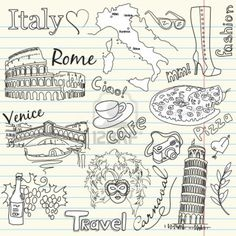 "It's been exactly 6 months since I left for Italy and can honestly say it changed my life forever. I haven't gone a day without thinking about it. I have these ""In Love With Italy"" doodles on all my notes this school year as well..."