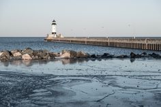 https://flic.kr/p/SP3cgr | Icy Waters, Canal Park, Duluth