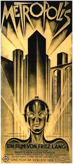POSTER METROPOLIS (1927) FRITZ LANG - VERSION GERMANY UG27