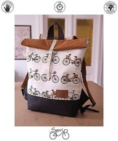 Serin backpack vintage material&love&unique Everyone falls in love Finding the love of your life  Serin handmade bicycle backpack,. Waterproof. It has