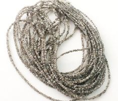 Champagne Brown Rough Rondelle Diamond Chip Beads by gemsforjewels