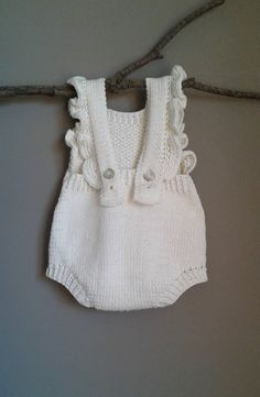 Instructions Spring Duo Baby Romper PDF Knitting Pattern for DK yarn / Baby Photo Props Baby Knitting Patterns, Pattern Baby, Baby Patterns, Free Pattern, Crochet Patterns, Baby Romper Pattern Free, Organic Cotton Yarn, Baby Pants, Barn