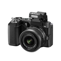 Nikon 1 V2 with 1 Nikkor 10-100mm f/4.0-5.6 VR Lens, Black #photography #photographyproducts #holidayideas #giftguide #holidaygiftguide #dslrgiftguide #dslrbuyingguide  #holidaybuyingguide #mirrorlesscameras #nikon
