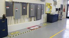Floor Marking for electrical panel clearance