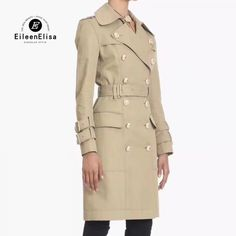 autumn long trench coat woman luxury coat double breasted fashion 2018 new long sleeve high waist ladies trench coat Price: 211.79 & FREE Shipping #fashion #tech #home #lifestyle Trench Coats Women Long, Long Trench Coat, Coats For Women, Fashion 2018, Double Breasted, Autumn, High Waist, Luxury, Lady