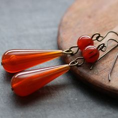 vintage lucite drop earrings - $16 on Etsy