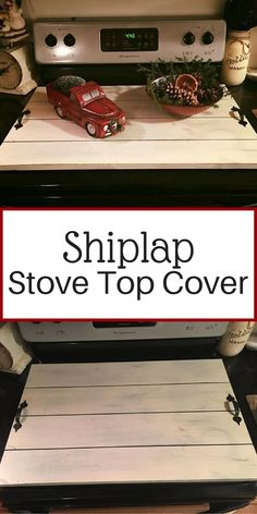 Stove Top Cover Noodle Board Shiplap Farmhouse Decor Fixer Upper Style Home Country Farmhouse Decor, Country Kitchen, Rustic Decor, Modern Farmhouse, Farmhouse Style, Kitchen Redo, New Kitchen, Kitchen Ideas, Kitchen Stove