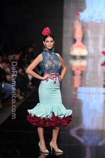 Trajes de Flamenca - Simof 2014 - Moda Flamenca Frill Dress, Lace Skirt, Peplum, Flamenco Costume, Flamenco Dresses, African Wear, African Fashion, Paris Fashion, Beautiful Dresses