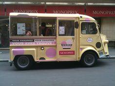 Monoprix baptise son foodtruck à glaces la 'Gla Gla mobile'. J'adore le nom ;)