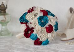 Carnival inspired  Bridal Bouquet Vintage by MyVintageWeddingAust
