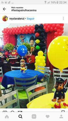 Paw Patrol Birthday Theme, Paw Patrol Party, 3rd Birthday Parties, 2nd Birthday, Cumple Paw Patrol, Childrens Party, Birthdays, Party Ideas, Paw Patrol Decorations