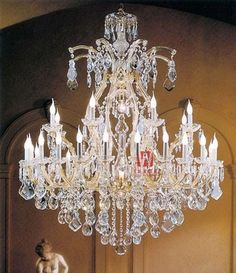Decorative candle chandelier lighting 30 lights beautiful home crystal chandelier C9132 120cm W x 140cm H
