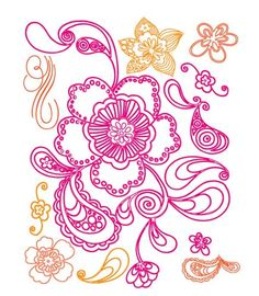 Prima Clear Stamp - Paisley Road Flower - 542030