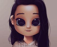 Cartoon Portrait Digital Art Digital Drawing Digital Painting Character Design Drawing Big Eyes Cute Illustration Art Girl Make it Happen Cute Eyes Drawing, Realistic Eye Drawing, Cute Girl Drawing, Drawing Drawing, Drawing Cartoon Characters, Cartoon Drawings, Cartoon Art, Cartoon Ideas, Illustration Kawaii