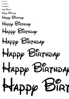 Walt Disney fonts, oh if only they said that to me on my actual birthday! Happy Birthday To You, Happy Birthday Disney, Mickey Mouse Birthday, Minnie Mouse Party, Disney Birthday Quotes, Mickey Party, Birthday Greetings, Birthday Wishes, Birthday Cards