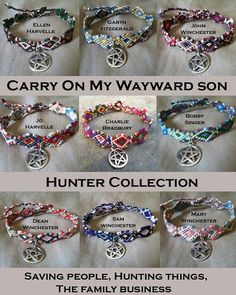 The Carry On My Wayward Son Hunter collection celebrates the hunters of Supernat. - The Carry On My Wayward Son Hunter collection celebrates the hunters of Supernatural, who are like - Supernatural Jewelry, Supernatural Merchandise, Supernatural Outfits, Supernatural Memes, Supernatural Charlie, Supernatural Pictures, Castiel, Arte Disney, Superwholock
