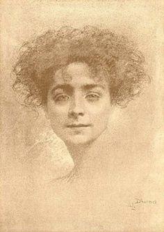 Portrait of a Woman - Lucien Lévy Dhurmer
