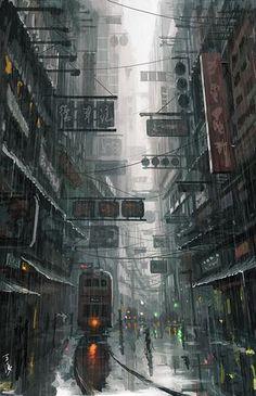 "Fine Art America — ""Hongkong"", Wang Ling, Digital, 2012 [] via"