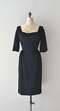 Dangerous Game dress / black jersey 50s dress / by DearGolden