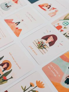 Gratitude Packaging & Merchandise on Behance Design Logo, Print Design, Branding Design, Postcard Design, Grafik Design, Book Illustration, Graphic Design Illustration, Graphic Design Inspiration, Business Card Design