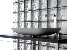 Bloques de vidrio para la sala de baño #IdeaTuHogar