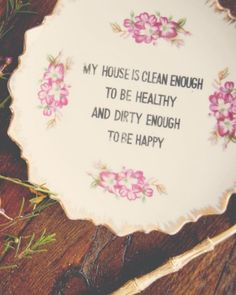Wise Words Plate.