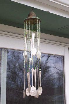 Recylced Garden Art.....Silverware Wind Chime