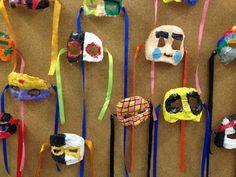 MÀSCARES DE GUIX - Material: venes, guix, pintura, cintes - Nivell: CS 6PRIM  2015/16 Escola Pia Balmes