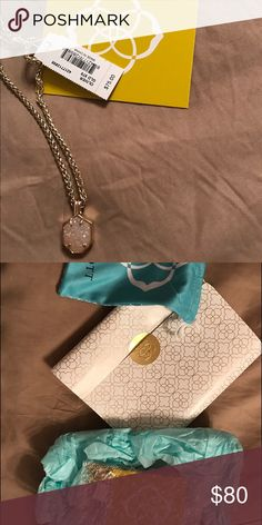 NWT Kendra Scott Oliver Necklace DRUSY Kendra Scott Oliver Necklace Kendra Scott Jewelry Necklaces