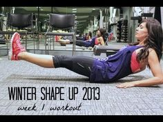 Fitnessista: Warm up - 3 minutes jump rope or high knees (10 seconds on, 10 seconds rest), 1 minute animal side shuffle, 12 pushups and   30 second plank (1/27/13, 5 mins).