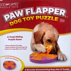 THE PAW FLAPPER Interactive Dog Puppy Puzzle Toy Mentally Stimulating Brain Work