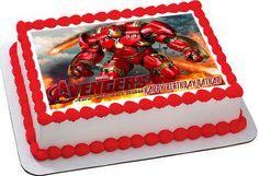 Iron Man Hulkbuster Edible Birthday Cake Topper