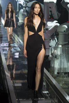 Hot! Or Hmm…: Selena Gomez's SNL Performance Spring 2016 Philipp Plein Black Plunging Cut Out Side Slit Gown