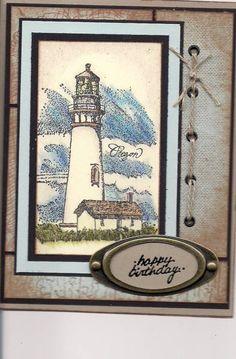 Husbands birthday card using Stampin' Up! Coast to Coast retired stamp set.