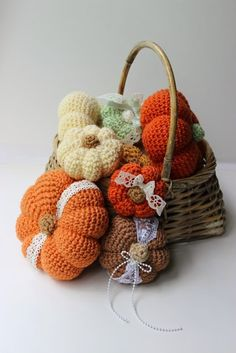 10 Free Crochet Pumpkin Patterns - The Lavender Chair                                                                                                                                                      More