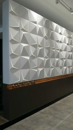 This piece is highlighting texture with lighting also 3d Foto, 3d Wall Tiles, Partition Design, 3d Wall Panels, Acoustic Panels, Wall Cladding, Wall Treatments, Ceiling Design, Tile Design