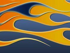 Flames - blue and orange by jbensch.deviantart.com on @DeviantArt