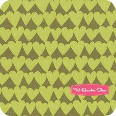 green hearts $10.75 yd