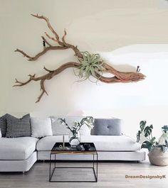 Driftwood Wall Art, Driftwood Projects, Driftwood Sculpture, Decoration Branches, Branch Decor, Diy Home Decor, Room Decor, Wall Decor, Large Wood Wall Art