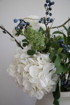 Layered Lounge, a beautiful collection of home decor to stye your home with. Home accessories with a Scandinavian and Hamptons influence, for a relaxed look that is easy to live with and easy to love. Blueberry Flowers, Faux Flower Arrangements, White Hydrangeas, Mop Heads, White Velvet, Easy To Love, Velvet Cushions, Faux Flowers, Timeless Elegance