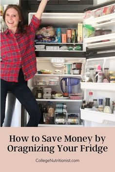 Find out how you can save money by organizing your fridge! #collegenutritionist #lowcarbdiet #diy #organization #organizationtips College Dorm Organization, Kitchen Organization, Organization Hacks, How To Eat Less, How To Stay Healthy, Eat Healthy, Mayo Dressing, Glass Storage Containers, Low Shelves