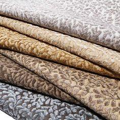 Breathless - Velvet Leaf Pattern Upholstery Fabric